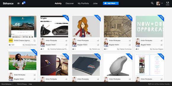 Sites para fazer portfolio online - Behance