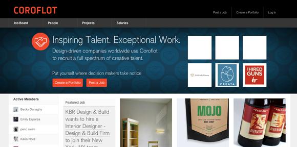 Sites para fazer portfolio online - Coroflot