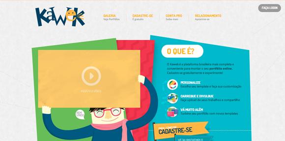 Sites para fazer portfolio online - Kawek
