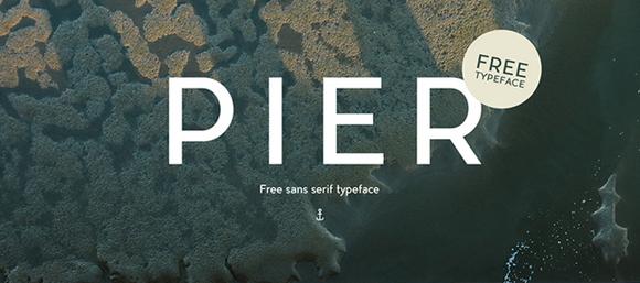 Des1gn ON Free Font Fonte Gratis 01 Pier