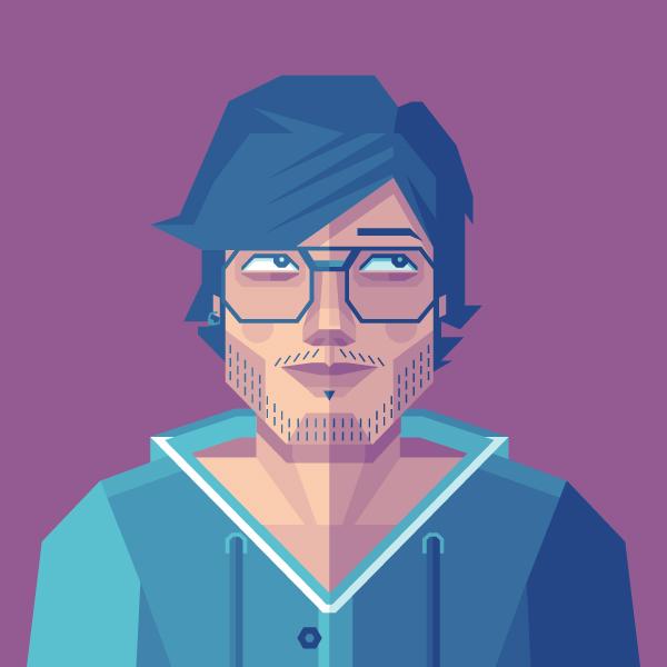 Des1gn ON Como criar seu autoretrato geometrico illustrator 39