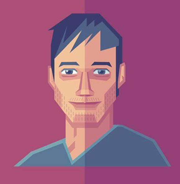 Des1gn ON Como criar seu autoretrato geometrico illustrator 40