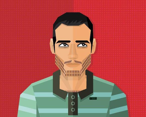 Des1gn ON Como criar seu autoretrato geometrico illustrator 45