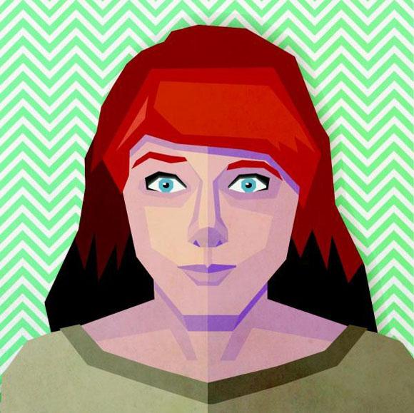 Des1gn ON Como criar seu autoretrato geometrico illustrator 46