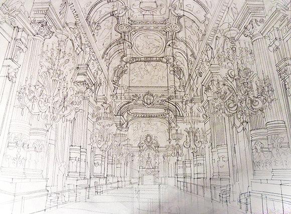 Sketchs arquitônicas de Maja Wrońska