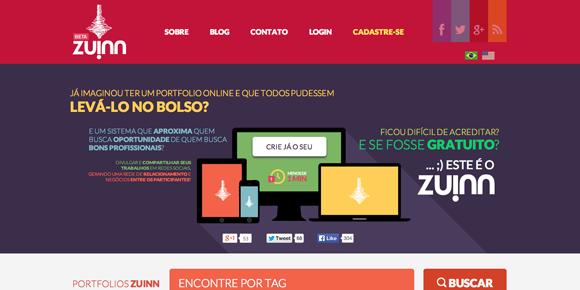 Sites para fazer portfolio online - Zuinn
