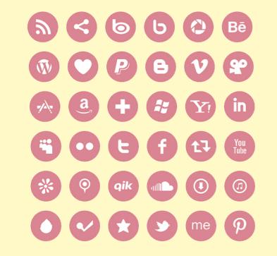 Precisando de ícones de redes sociais free