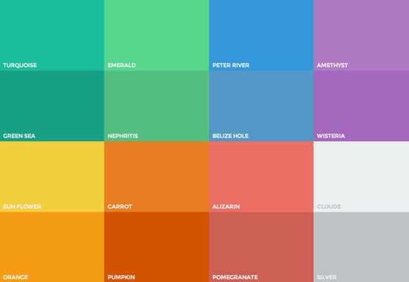 as cores do flat ui em suas m u00e3os