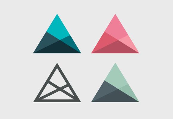Logos baseados em figuras geométricas