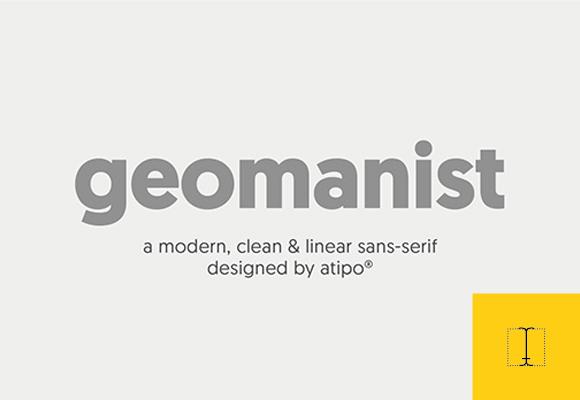 Des1gn ON - Fonte sans serif Geomanist