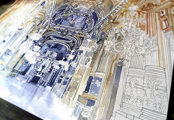Des1gn ON - Sketchs arquitônicas de Maja Wrońska - capa