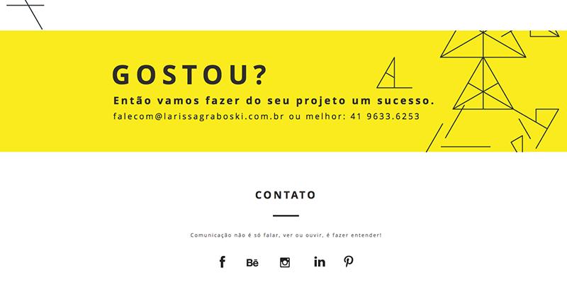 Des1gnon | Como fazer portfolio freelancer - Larissa Graboski2