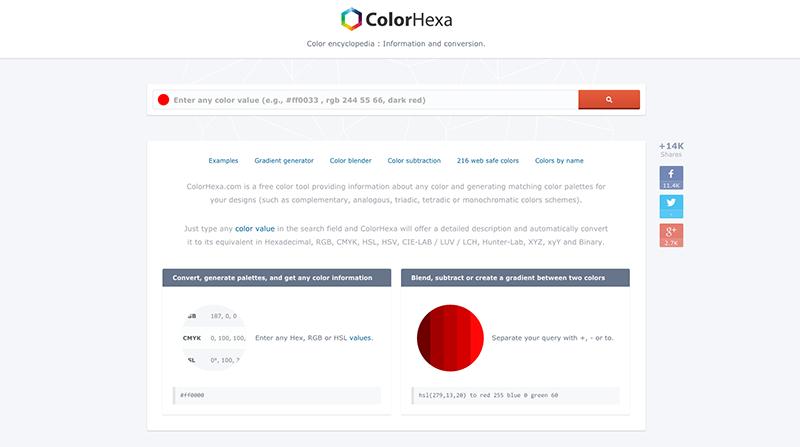 Des1gn ON | Ferramentas de Cores - ColorHexa