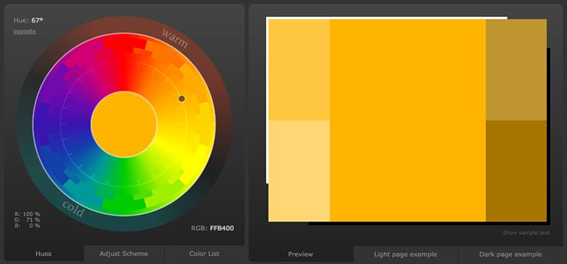 Des1gn ON   Ferramentas de Cores - colorschemedesigner