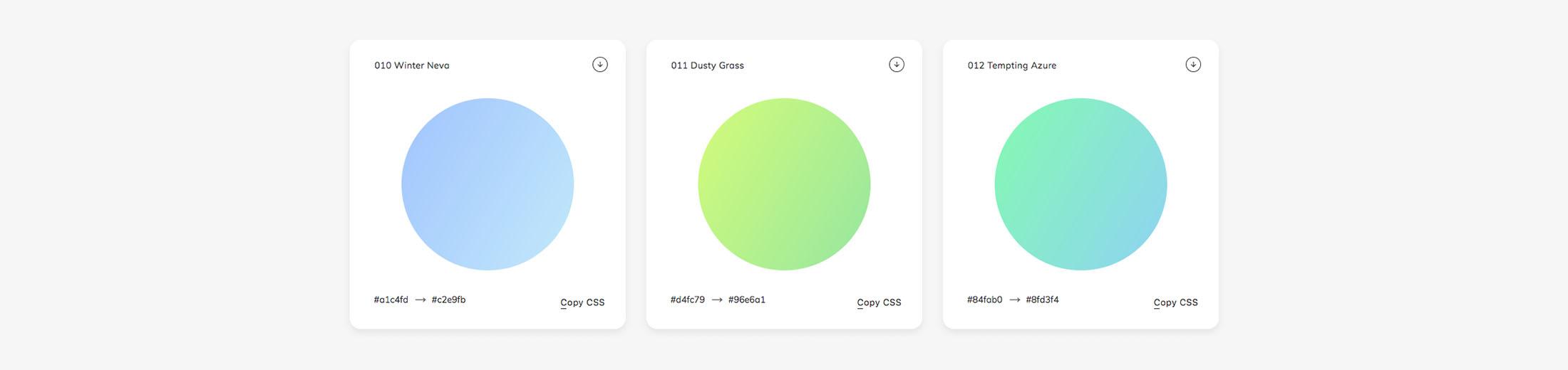 Des1gnon | Cores Gradientes - WebGradients