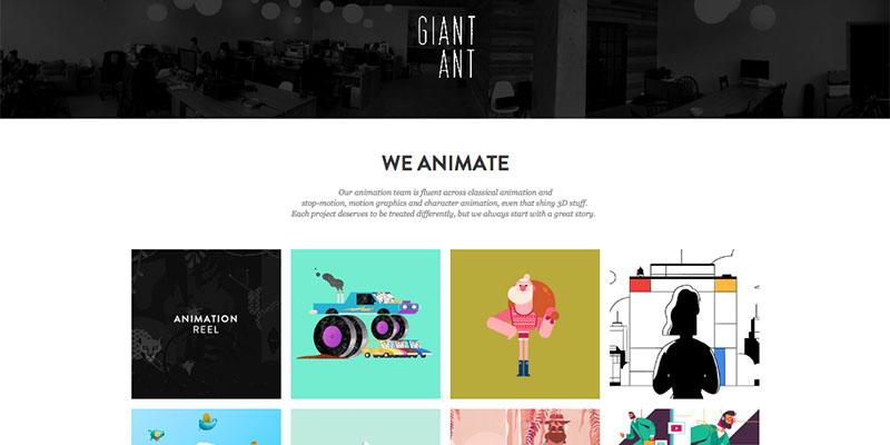 Des1gnon - Estudios de Animação - Motion Design - Giant Ant