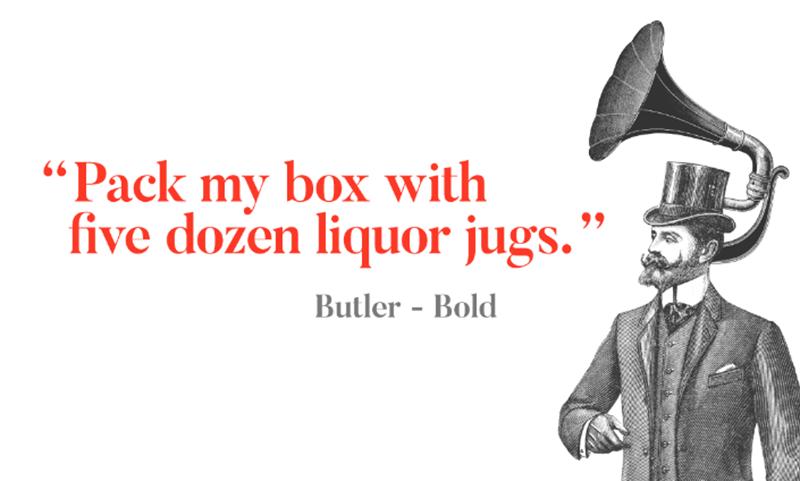 Des1gnON - 11 Fontes Serif FREE para se apaixonar - Butler