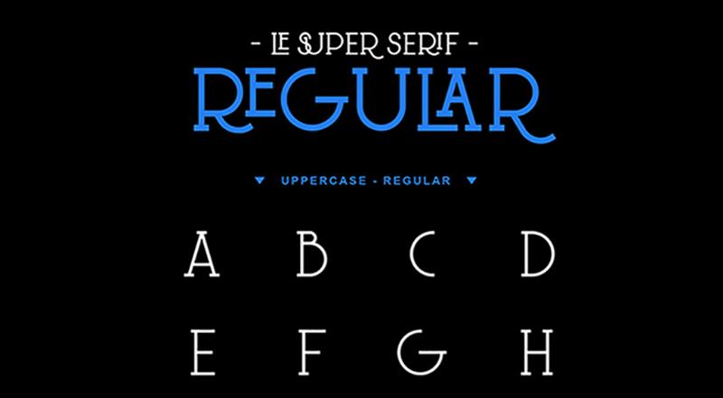 Des1gnON - 11 Fontes Serif FREE para se apaixonar - Le Super Serif