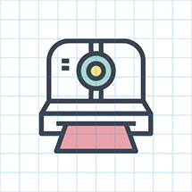 Des1gn ON - 50 ícones no estilo line linha - camera1