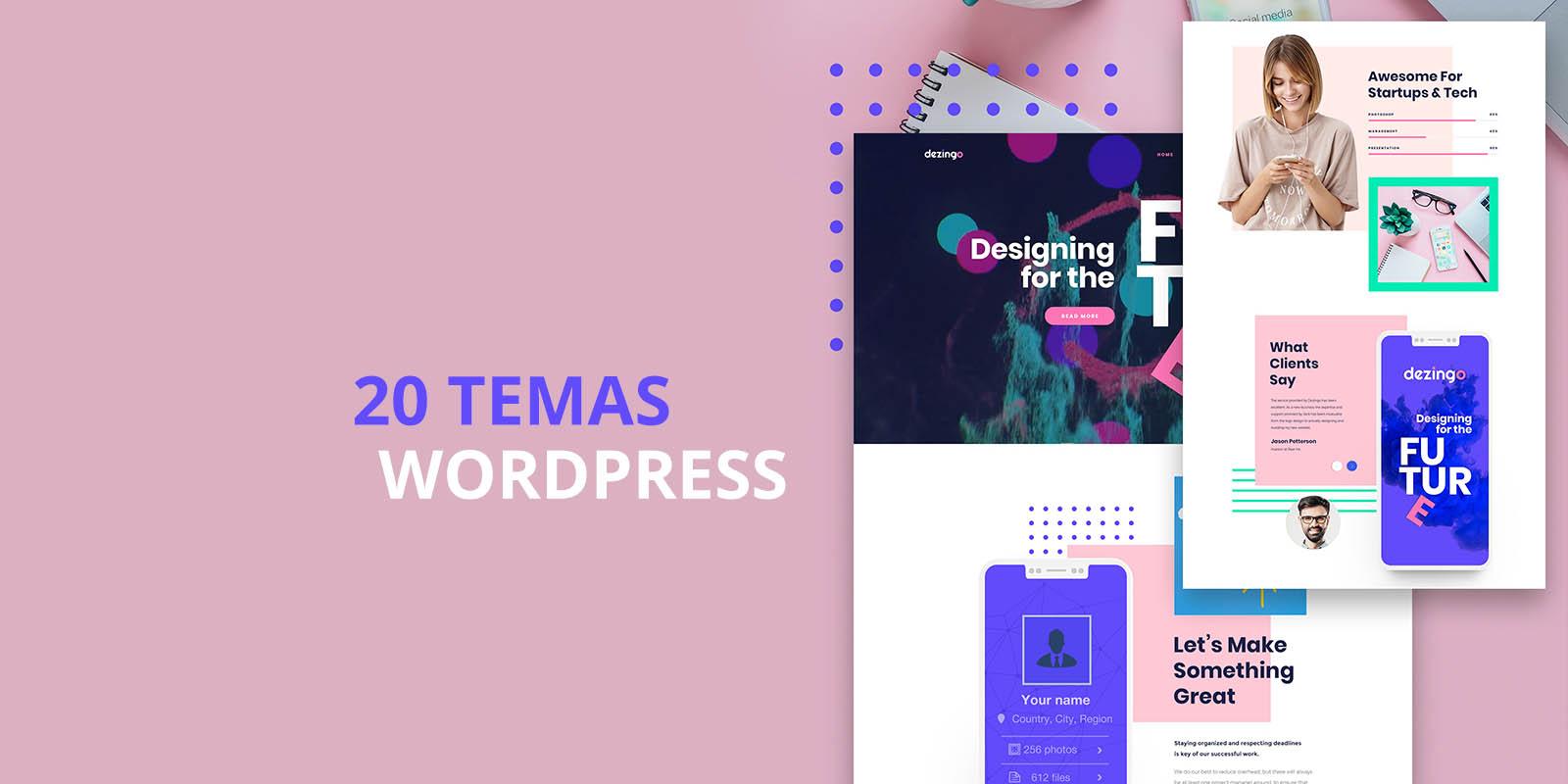 20 temas wordpress para criar um portf u00f3lio online