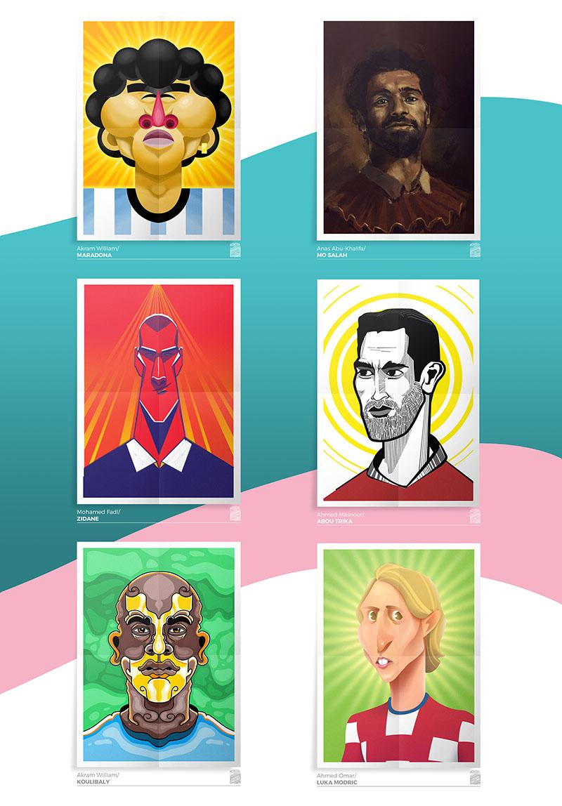 Des1gnON - Ilustrações de Figurinhas da Copa do Mundo 2018