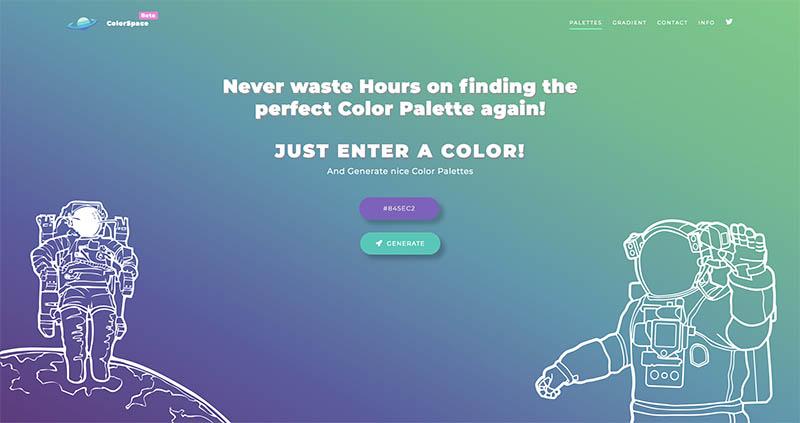 Des1gnON | 8 Ferramentas para gerar Cores Gradientes - ColorSpace