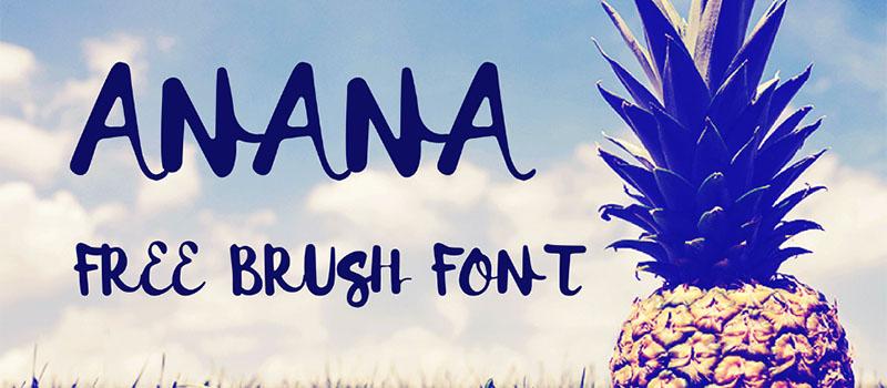 Des1gn ON   7 Fontes Novas que você não pode ficar sem - Junho 2016 - Anana free brush font