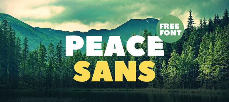 Des1gn ON   7 Fontes Novas que você não pode ficar sem - Junho 2016 - Peace Sans