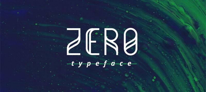 Des1gn ON   7 Fontes Novas que você não pode ficar sem - Junho 2016 - Zero typeface